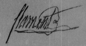 Signature d'Antoine FLAMENT