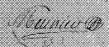 Louis Meunier (signature)