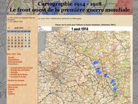 cartographie front 1914-1918